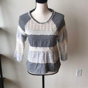4/$25 Lucky Brand Crochet Sweater